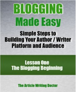 Simple steps to building your author / writer platform and audience