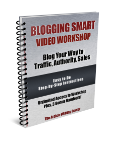Video workshop on blogging smart