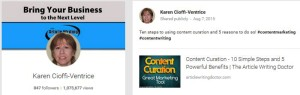 Search for 'content curation.'