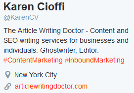 Twittrer header for Article Writing Doctor