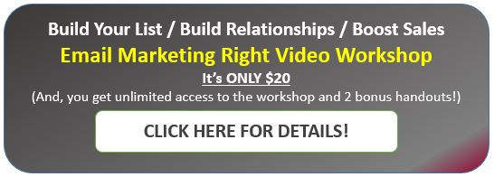 Email marketing right video workshop