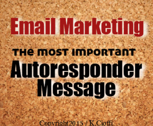 Email marketing Welcome message