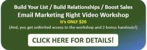 Email marketing video workshop