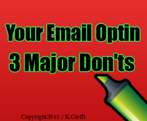 Email marketing and optins