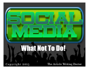 What not to do in social media marketing