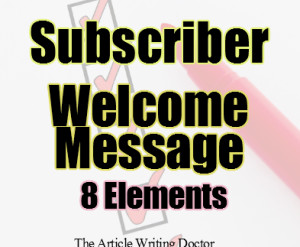 8 Elements to the Welcome Message