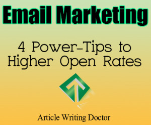 4 Tips to Higher Email Open Rates