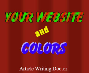 Your website and colors