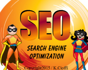 Marketing with SEO and social media.
