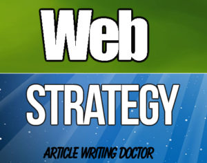 What is web strategy?