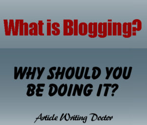 Why blogging is important.