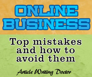 Online business mistakes and fixes